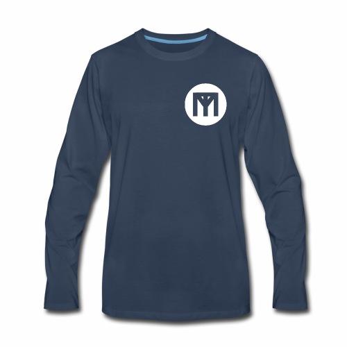 Trend Monster Circle LOGO White - Men's Premium Long Sleeve T-Shirt