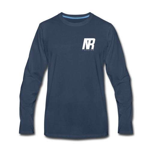 Trend Monster Logo White - Men's Premium Long Sleeve T-Shirt