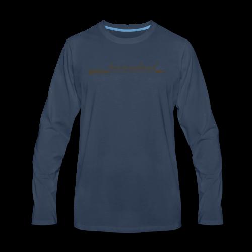 tarzanaland logo custom brown design - Men's Premium Long Sleeve T-Shirt