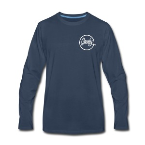 Gnarly Brand White - Men's Premium Long Sleeve T-Shirt