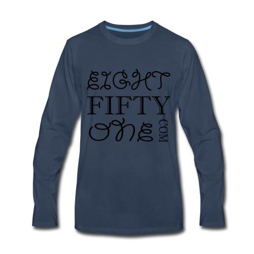 8:51 Square - Men's Premium Long Sleeve T-Shirt