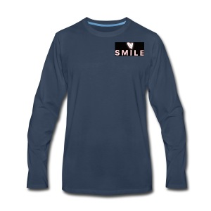 Happiness smile love bright cool good soft merch : - Men's Premium Long Sleeve T-Shirt