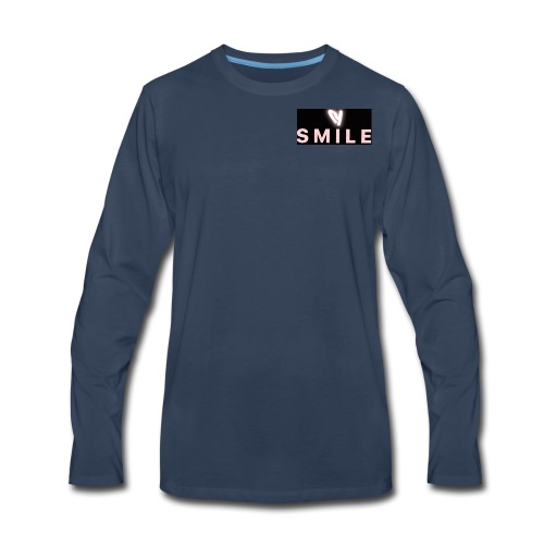 Happiness smile love bright cool good soft merch : - Men's Premium Long Sleeve T-Shirt