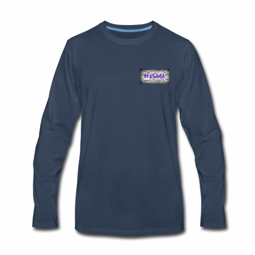 to much slidd - Men's Premium Long Sleeve T-Shirt