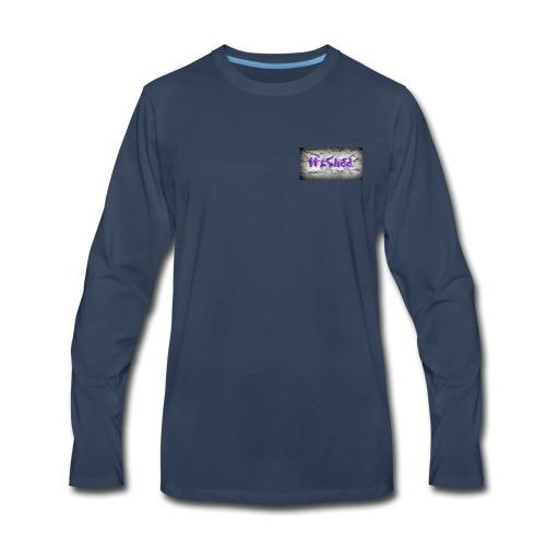 to much slidd - Men's Premium Long Sleeve T-Shirt
