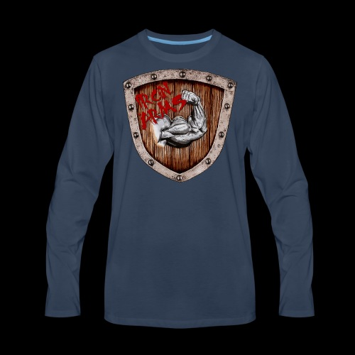 Iron Arms Shield Logo - Men's Premium Long Sleeve T-Shirt