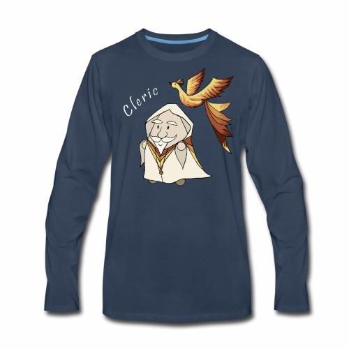 cleric white text - Men's Premium Long Sleeve T-Shirt