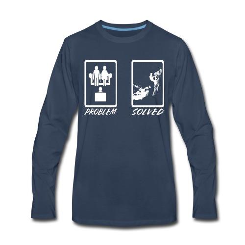 Problem Solved Sled - Men's Premium Long Sleeve T-Shirt