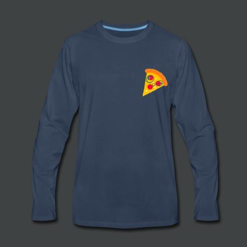 Cartoony Pizza Logo - Men's Premium Long Sleeve T-Shirt