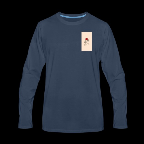 roses and hands - Men's Premium Long Sleeve T-Shirt