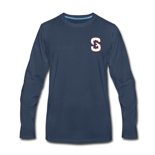 Self Enrichment SE White - Men's Premium Long Sleeve T-Shirt
