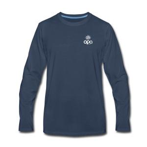 Long-sleeve t-shirt with small white OPA logo - Men's Premium Long Sleeve T-Shirt