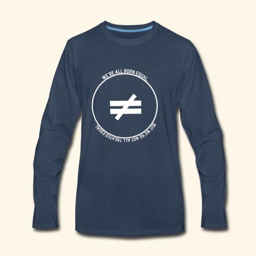 Stay True-White Logo - Men's Premium Long Sleeve T-Shirt
