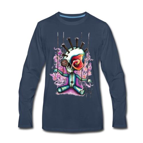 Punkpuppet Skull - Men's Premium Long Sleeve T-Shirt