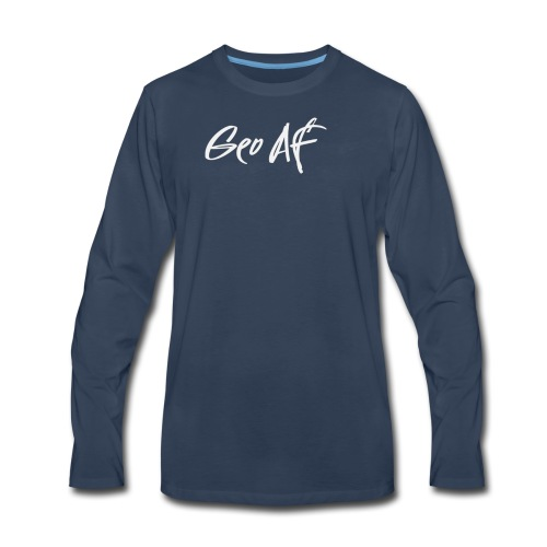 Geo Signature - Men's Premium Long Sleeve T-Shirt