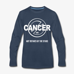 Cancer - Not Defined by the Stars - Men's Premium Long Sleeve T-Shirt