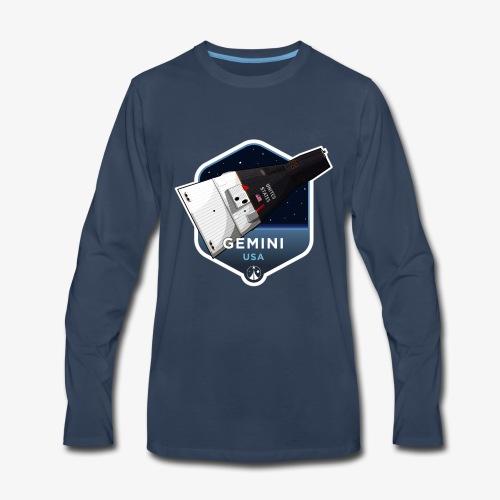 Space Race Series: GEMINI (Large print) - Men's Premium Long Sleeve T-Shirt