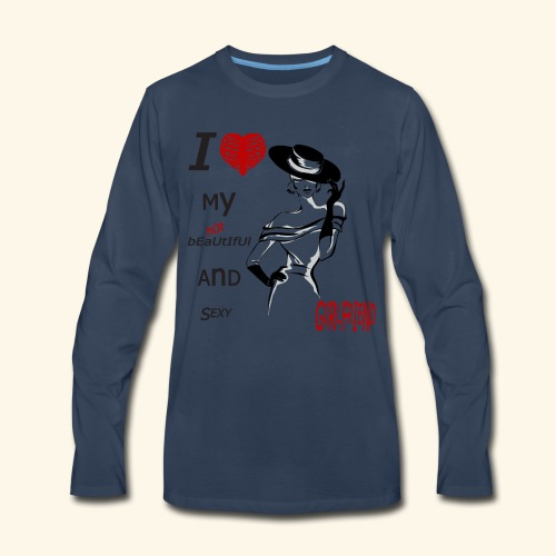 love my hot girlfriend - Men's Premium Long Sleeve T-Shirt