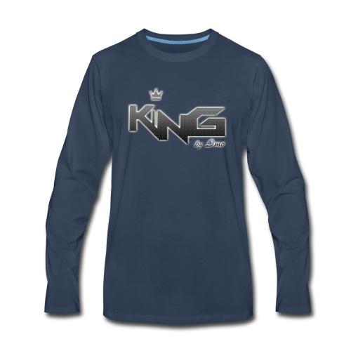 king logo v4 - Men's Premium Long Sleeve T-Shirt