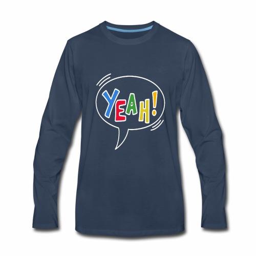 yeah - Beautiful and modest design - Men's Premium Long Sleeve T-Shirt