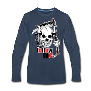 Follow me - Funny Skull with Scythe and Chain - Men's Premium Long Sleeve T-Shirt