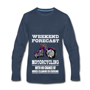 Weekend Forecast Motorcycling Motorcycle - Men's Premium Long Sleeve T-Shirt