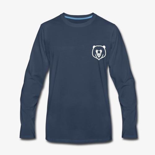 white kz logo - Men's Premium Long Sleeve T-Shirt