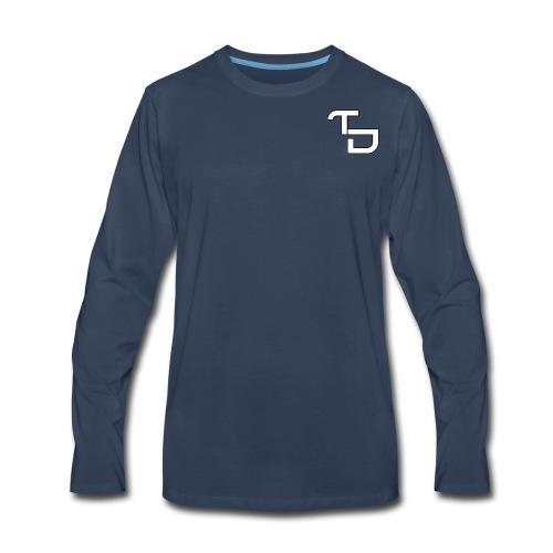 TD Small logo - Men's Premium Long Sleeve T-Shirt
