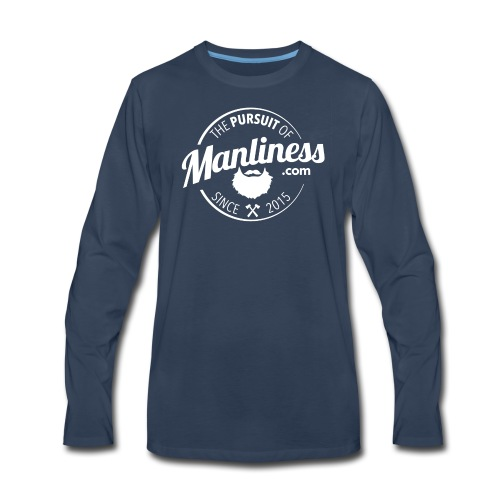 PoM Logo Round - Men's Premium Long Sleeve T-Shirt
