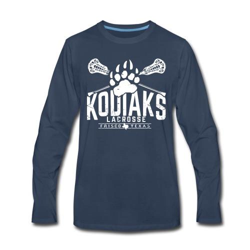Kodiaks Lacrosse 2018 white - Men's Premium Long Sleeve T-Shirt