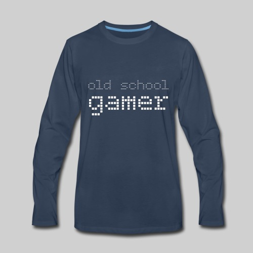 Old School Gamer - Men's Premium Long Sleeve T-Shirt