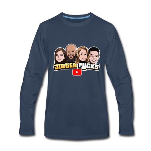 Jitter Flicks LOGO2 - Men's Premium Long Sleeve T-Shirt