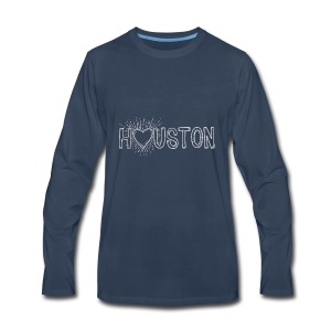 My Heart is With Houston - Men's Premium Long Sleeve T-Shirt