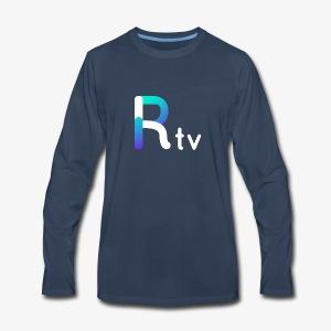 Rtv logo blanco - Men's Premium Long Sleeve T-Shirt