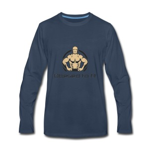 Obesed to fit - Men's Premium Long Sleeve T-Shirt