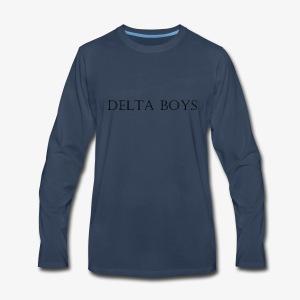DeltaBoys Stonescript - Men's Premium Long Sleeve T-Shirt