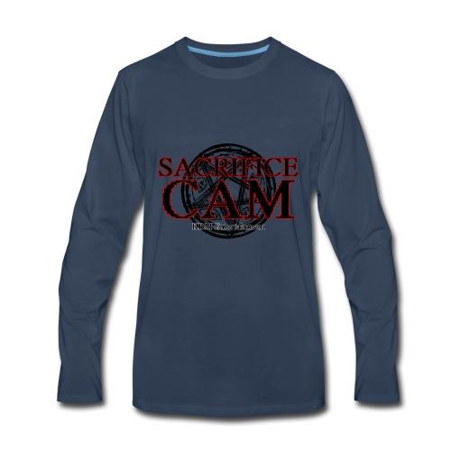 Sacrifice Cam Logo (Red outlines) - Men's Premium Long Sleeve T-Shirt