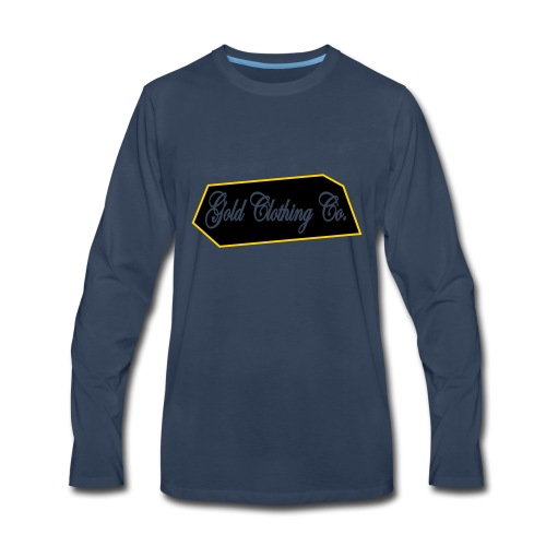 GOLD Clothing Co. Brick Logo - Men's Premium Long Sleeve T-Shirt