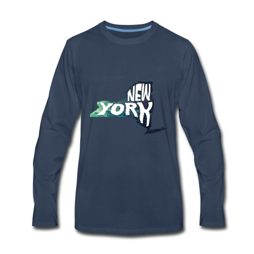 A New York State of Outline - Men's Premium Long Sleeve T-Shirt