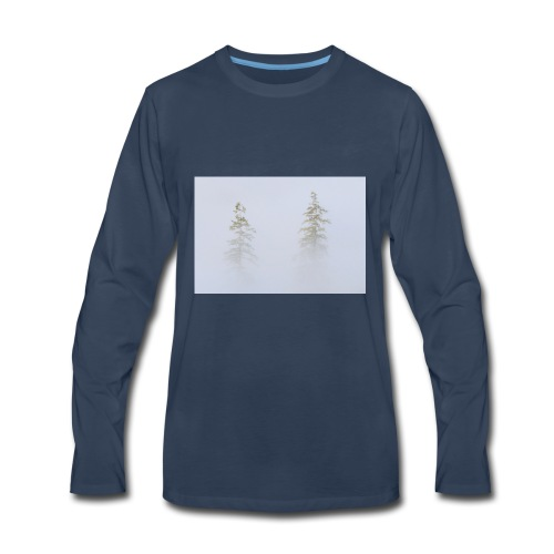 misty trees - Men's Premium Long Sleeve T-Shirt