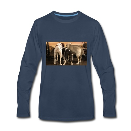 Curious Bird Dogs - Men's Premium Long Sleeve T-Shirt