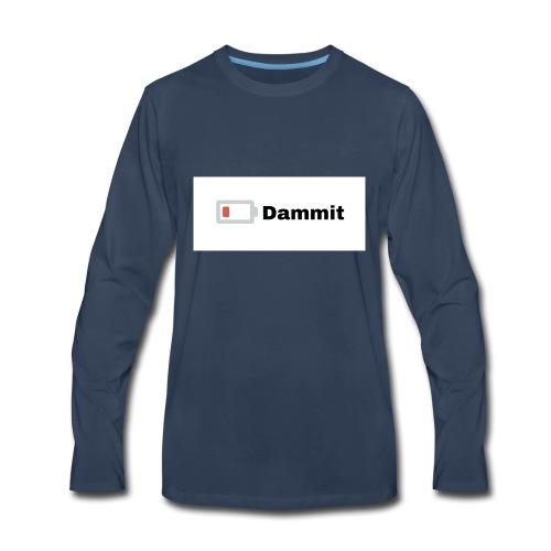 Low Battery Phone Case - Men's Premium Long Sleeve T-Shirt