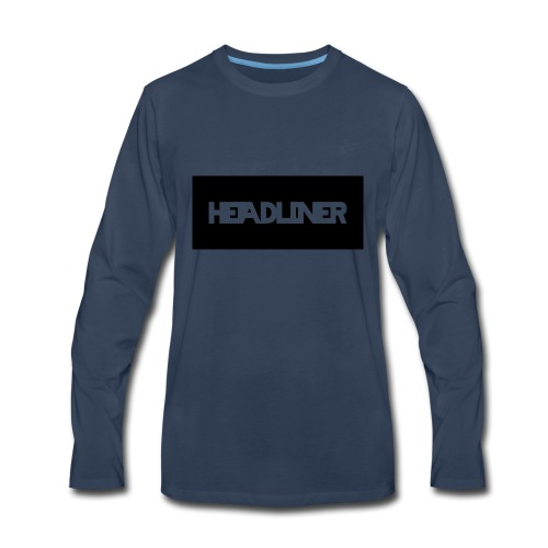 HEADLINER LOGO TRANSPARENT ON BLACK - Men's Premium Long Sleeve T-Shirt