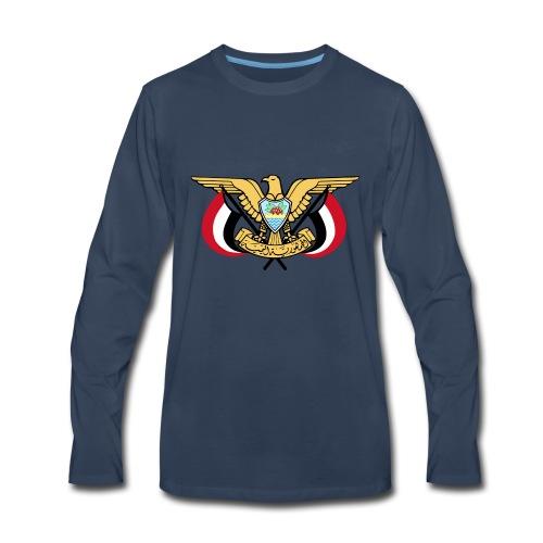 Emblem of Yemen svg - Men's Premium Long Sleeve T-Shirt