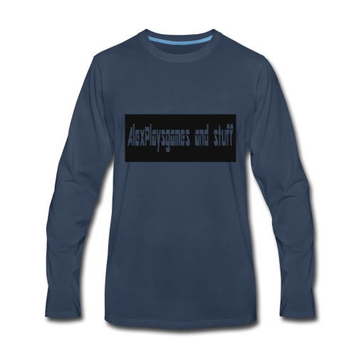 AlexPlaysgames and stuff design - Men's Premium Long Sleeve T-Shirt