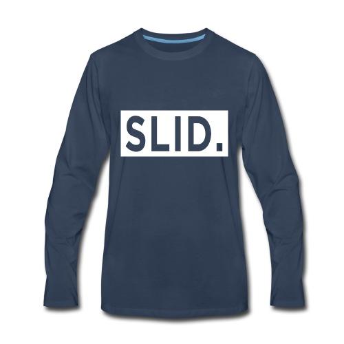 WHITE SLID. - Men's Premium Long Sleeve T-Shirt