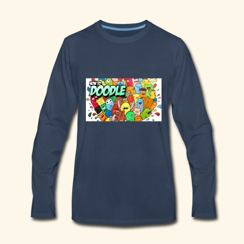 DOODLE SQUAD SPECIAL EDITION HOW TO DOODLE - Men's Premium Long Sleeve T-Shirt