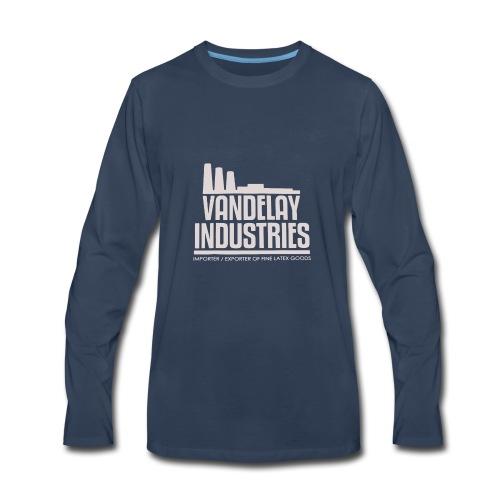 VANDELAY logo - Men's Premium Long Sleeve T-Shirt
