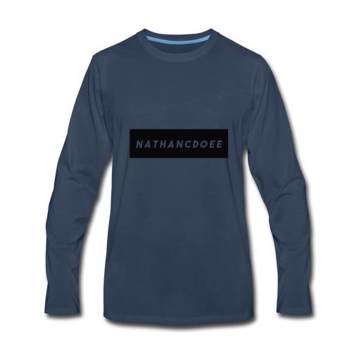 nathancdoee logo - Men's Premium Long Sleeve T-Shirt