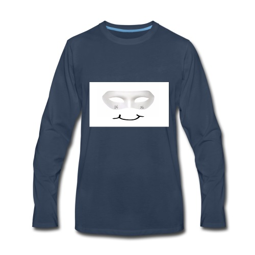 Mx Mask Smile (1) - Men's Premium Long Sleeve T-Shirt